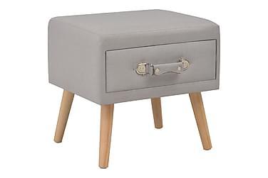 Sängbord grå 40x35x40 cm tyg