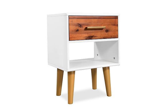 Sängbord massivt akaciaträ 40x30x45 cm - Brun - Möbler & Inredning - Bord - Sängbord