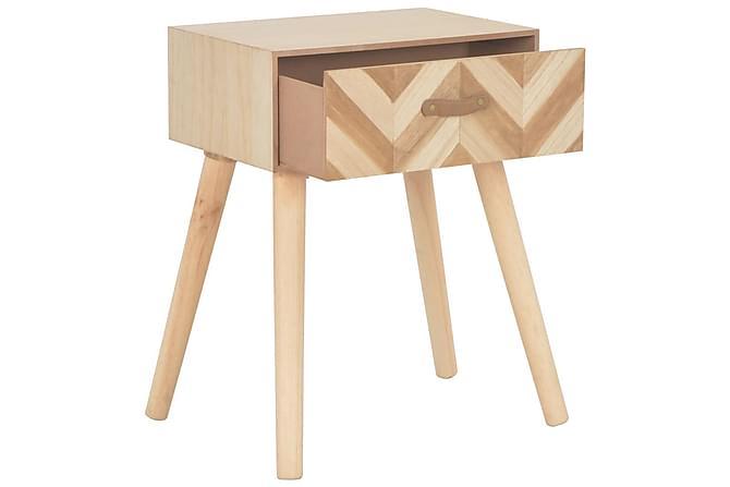 Sängbord med låda 44x30x58 cm massivt trä - Inomhus - Bord - Sängbord