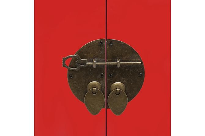 Sängbord röd 38x28x52 cm kejsarträ - Röd - Möbler & Inredning - Bord - Sängbord