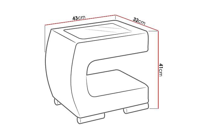 Stolik Sängbord 43x32x41 cm - Brun - Inomhus - Bord - Sängbord