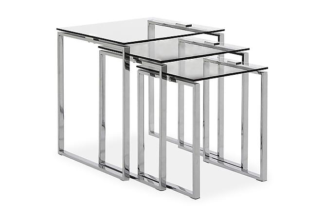 CATHY Satsbord 50 Glas/Krom - Möbler & Inredning - Bord - Satsbord