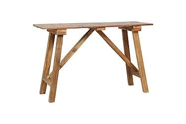 Konsolbord 130x40x80 cm massivt återvunnet trä