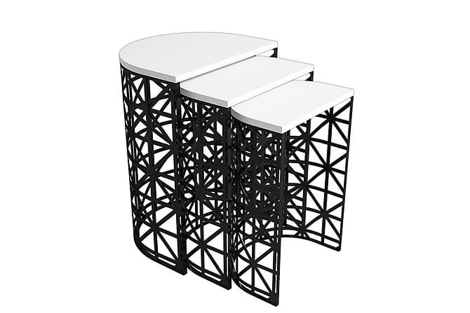 VARRED Satsbord 46 cm Vit/Black - Möbler & Inredning - Bord - Satsbord
