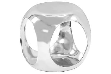 Sidobord gjuten aluminium 35x35x35 cm silver