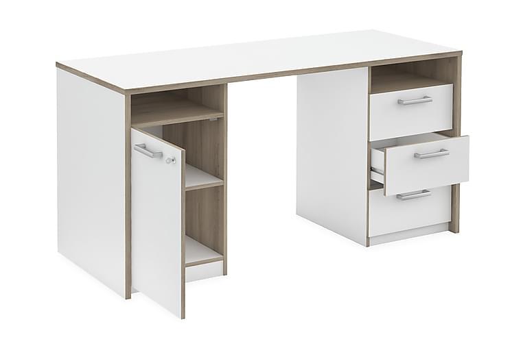 BLACKER Skrivbord Trä/Vit - Trä/Vit - Möbler & Inredning - Bord - Skrivbord