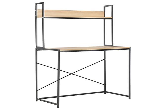 Datorbord svart och ek 120x60x138 cm - Svart - Möbler & Inredning - Bord - Skrivbord