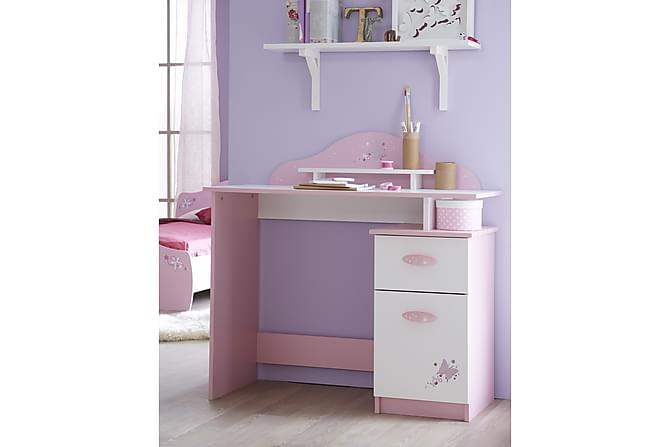 ERELIN Skrivbord 101 Vit/Rosa - Inomhus - Bord - Skrivbord