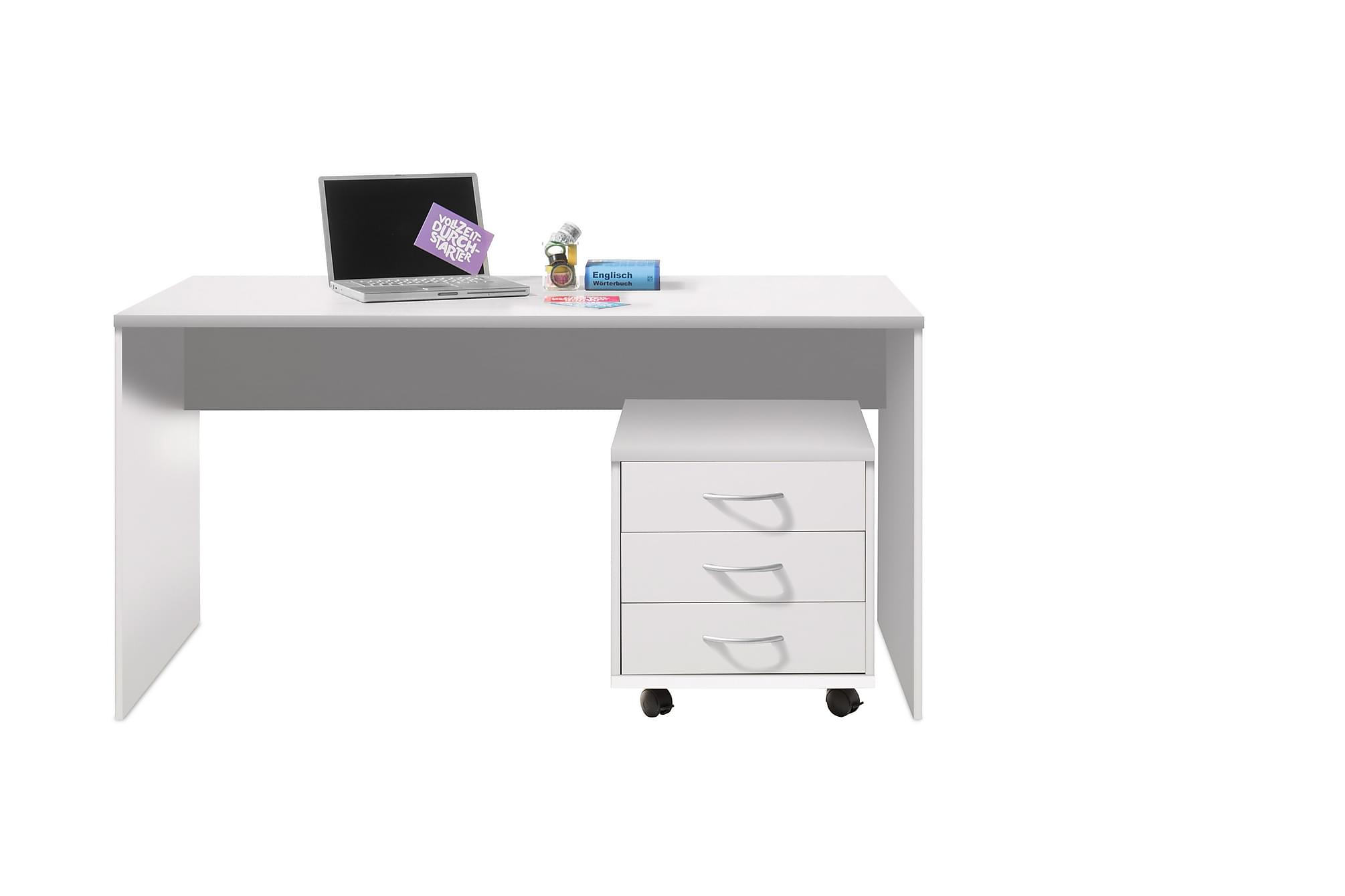GERRARD Skrivbord 150 cm Vit