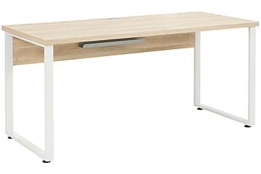 HAMBORN Skrivbord 160 Brun/Platinagrå