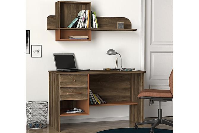 MAIDENVILLE Skrivbord 120 cm Mörk Valnöt - Möbler & Inredning - Bord - Skrivbord