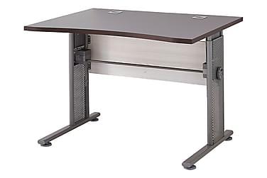 PRAXIS Skrivbord 100 Brun/Grå/Metall