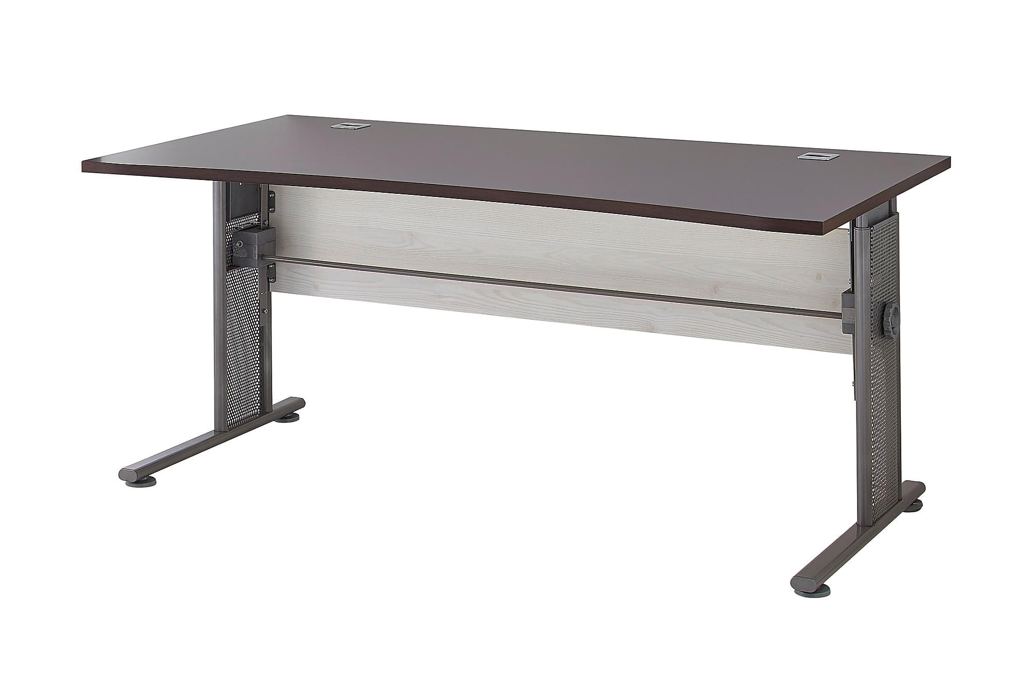 PRAXIS Skrivbord 160 Brun/Grå/Metall