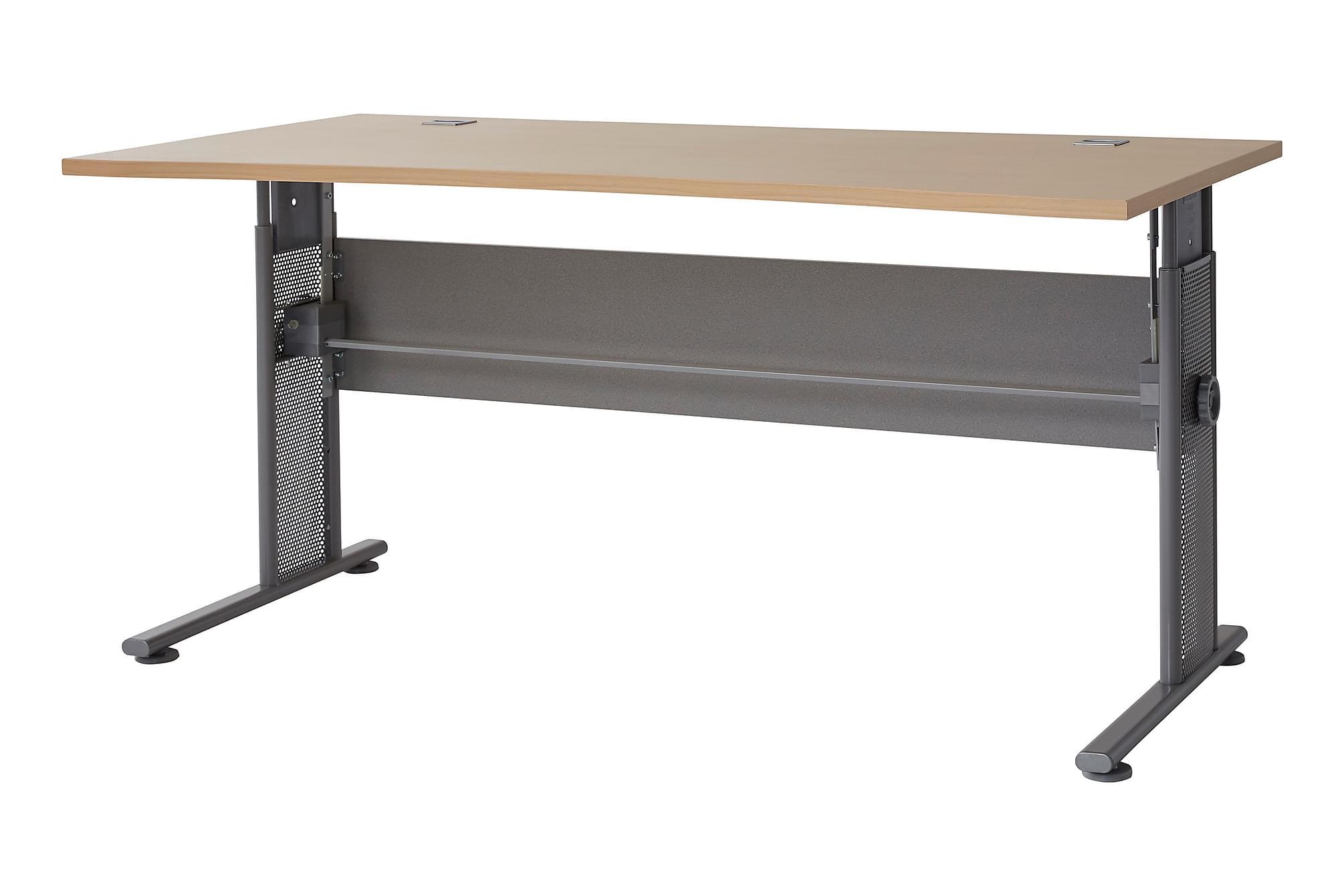 PRAXIS Skrivbord 160 Trä/Grå