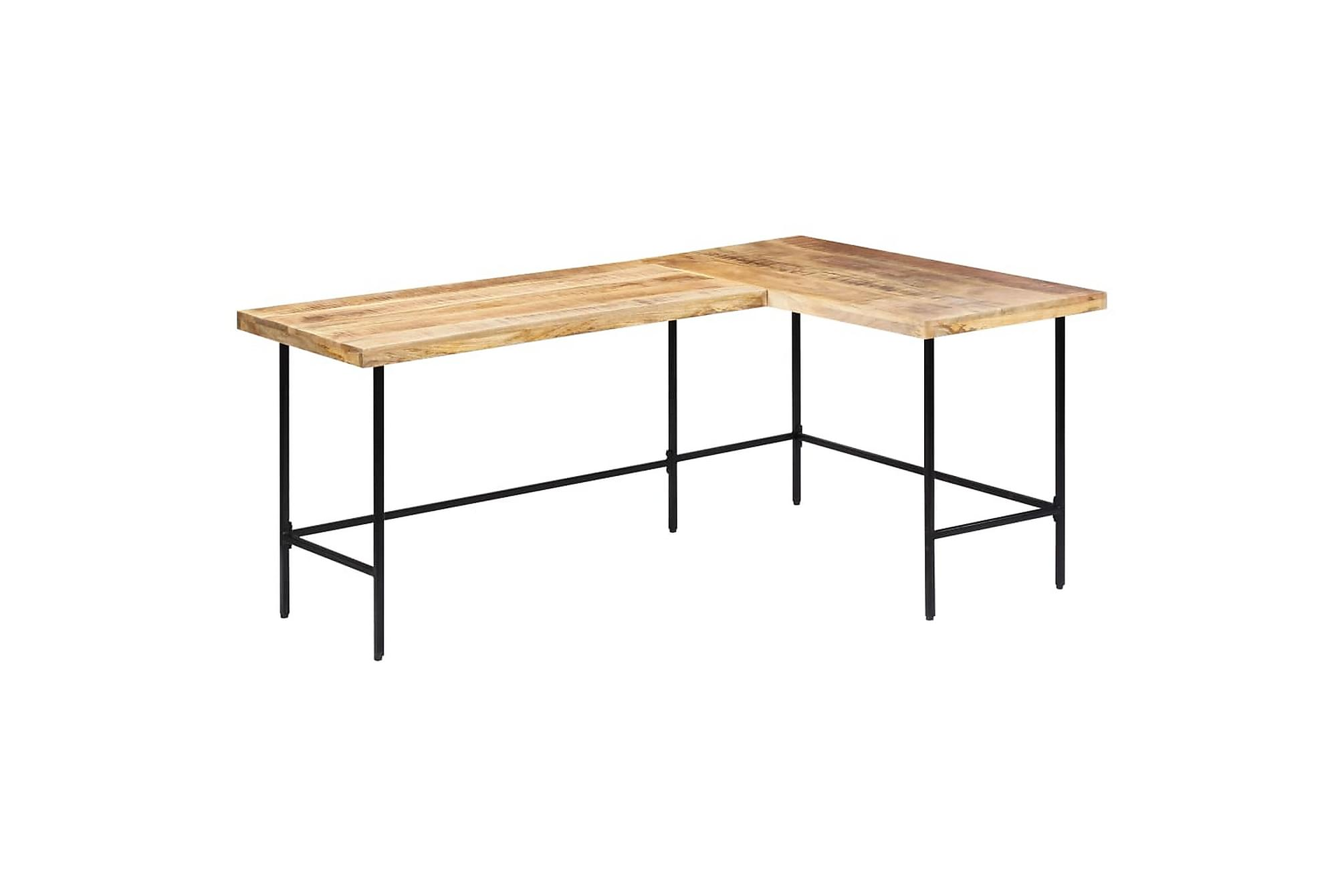 Skrivbord 120x60x76 cm massivt mangoträ