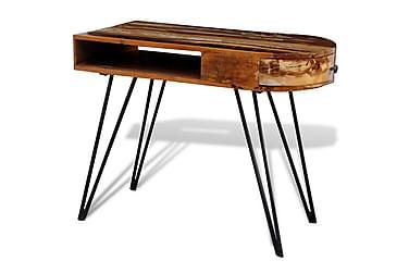 Skrivbord i återvunnet trä med järnben