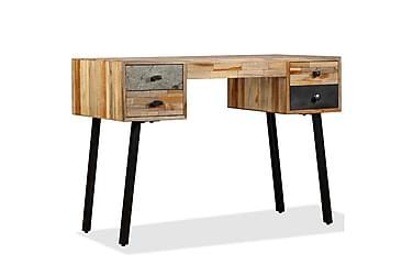 Skrivbord massivt återvunnet teakträ 110x50x76 cm