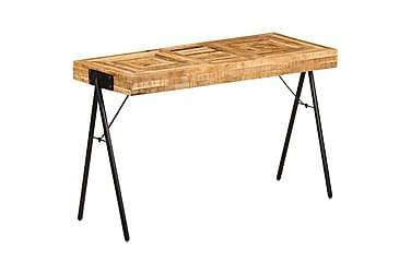 Skrivbord massivt mangoträ 118x50x75 cm