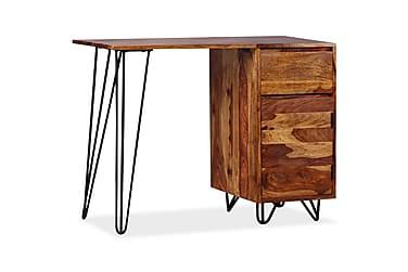 Skrivbord med 1 låda och 1 skåp massivt sheshamträ