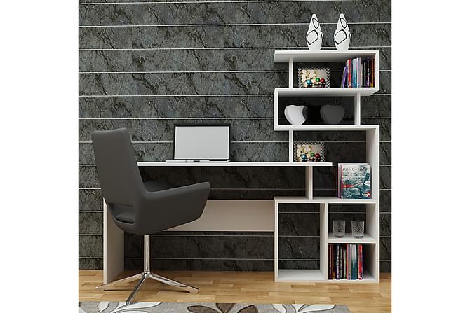 TONYA Skrivbord/Bokhylla Vit - Vit - Möbler & Inredning - Bord - Skrivbord