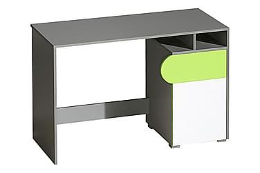 WILSUM Skrivbord 120 Vit/Grå/Grön