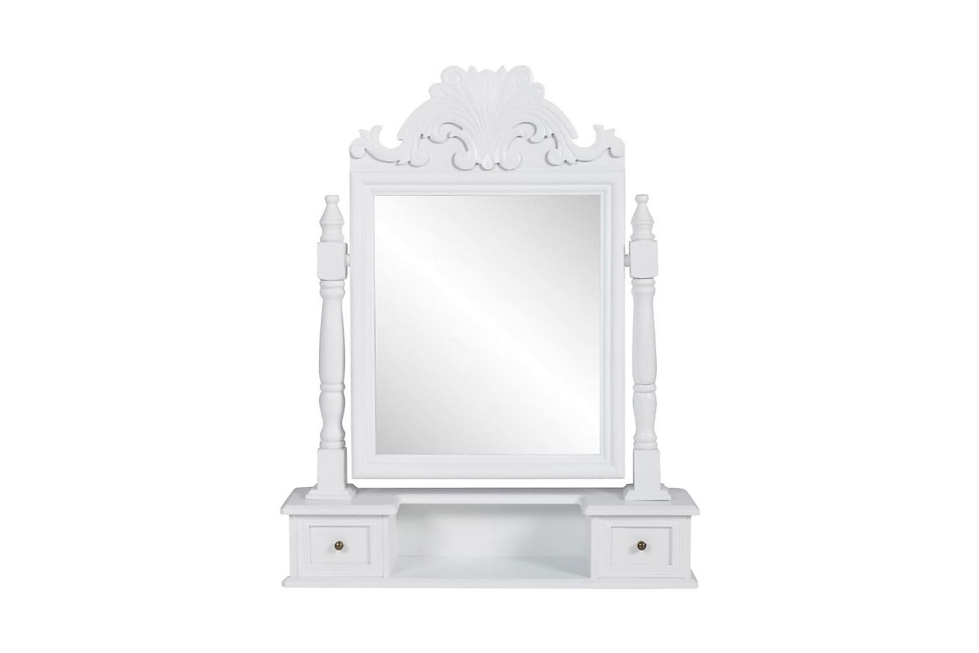 Bordsspegel med justerbar rektangulär spegel MDF, Sminkbord