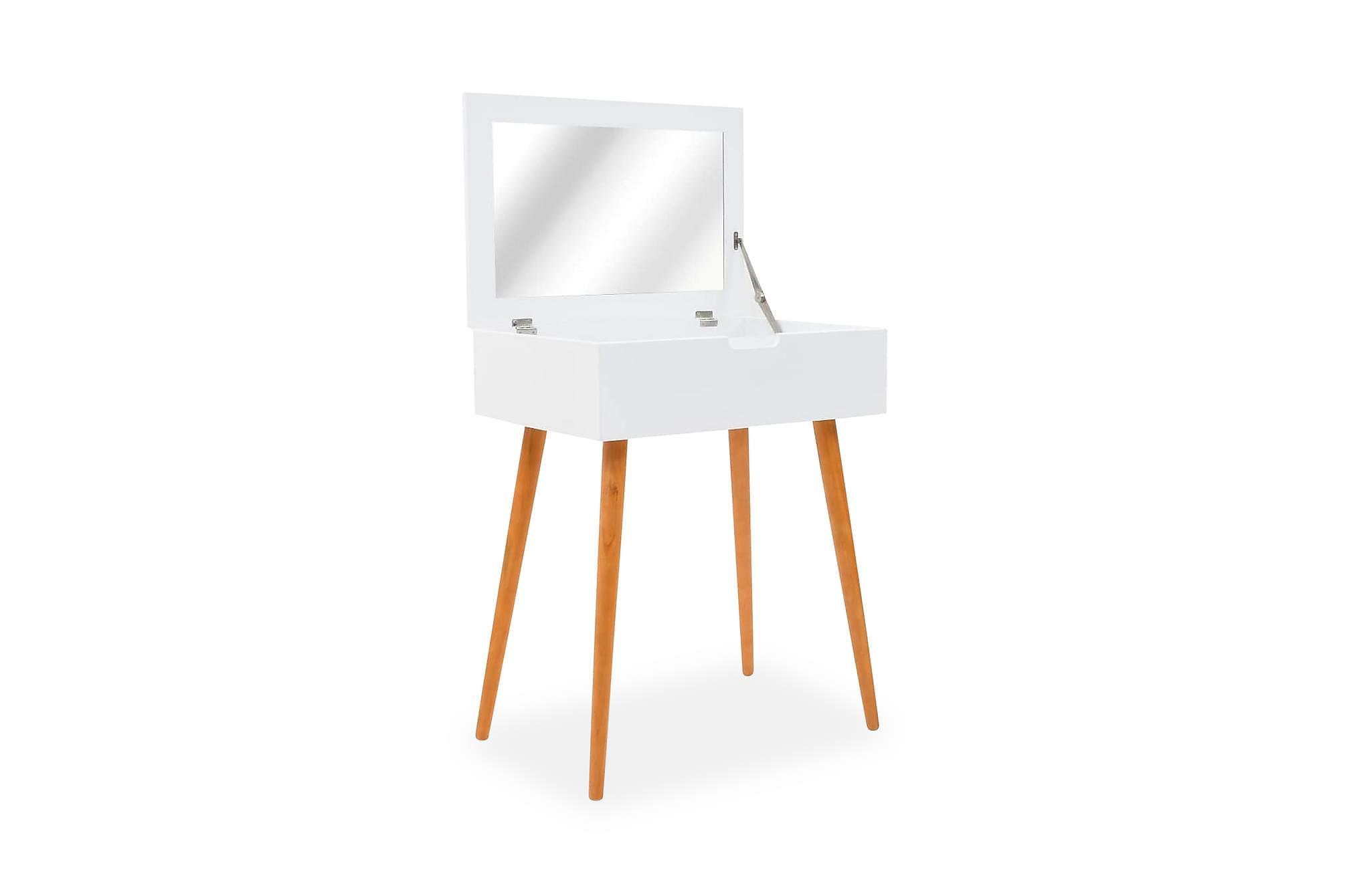 Sminkbord m. spegel MDF 60x40x75 cm