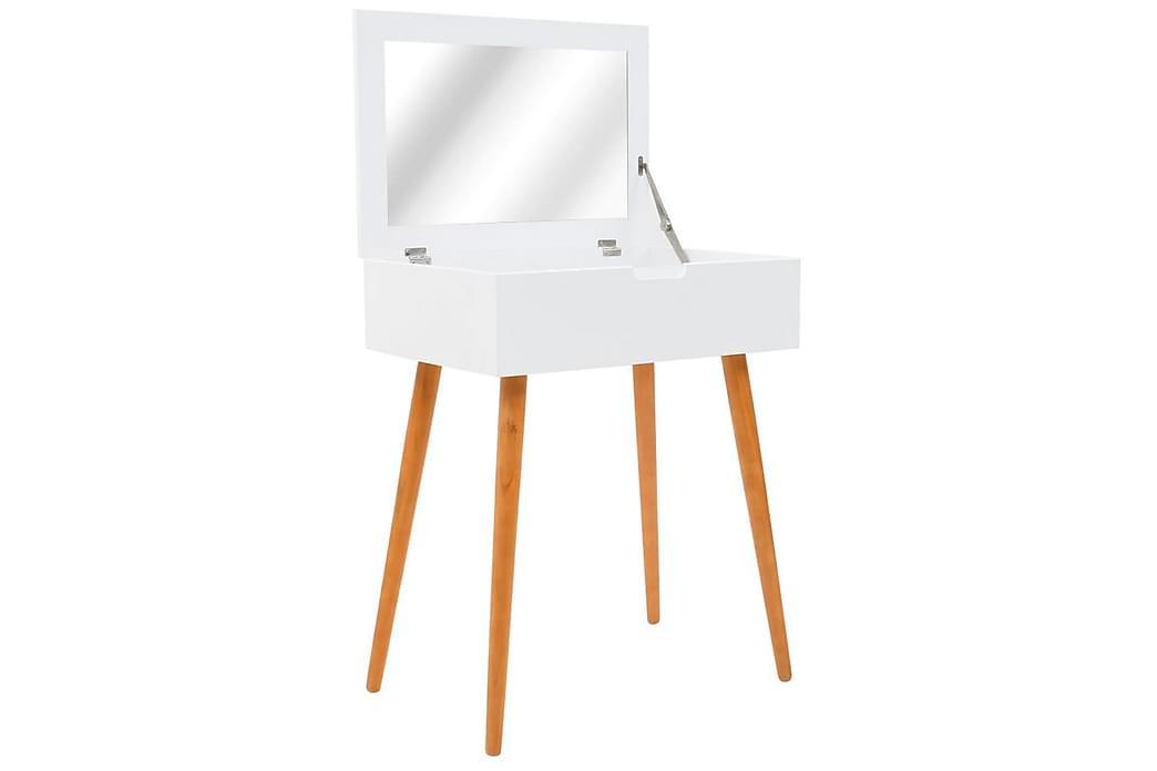 Sminkbord med spegel MDF 60x40x75 cm - Vit - Möbler & Inredning - Bord - Sminkbord