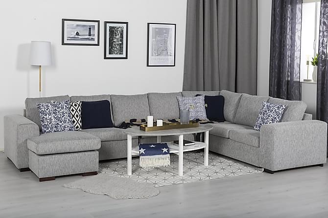 ANNELI Soffbord 120 Oval Grå/Vit - Möbler & Inredning - Bord - Soffbord