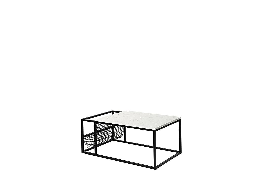 BROADWAY Soffbord 60 cm Marmor Svart - Vit - Möbler & Inredning - Bord - Soffbord