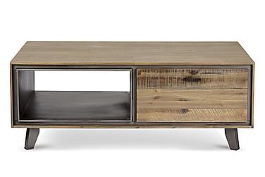 CAMINO Soffbord 120 med Lådor Brun/Silver