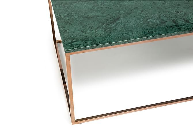 CARRIE Soffbord 120 Marmor Grön/Koppar - Inomhus - Bord - Soffbord