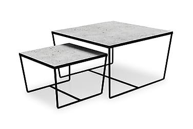CYBELE Satsbord 75/50 Glas/Metall Grå Betong/Svart