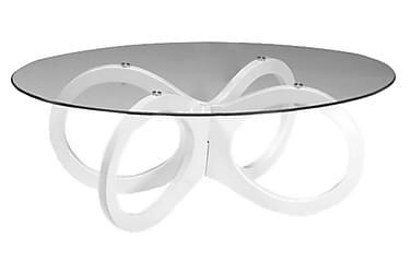 LOOP Soffbord 120 Oval Glas/Vit