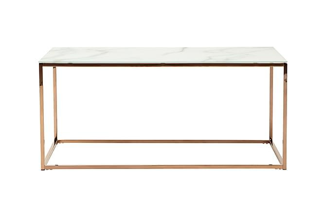 MATADOR Soffbord 100 Vit/Koppar - Möbler & Inredning - Bord - Soffbord