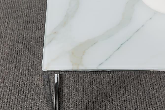 MATADOR Soffbord 120 Marmorglas/Krom - Inomhus - Bord - Soffbord