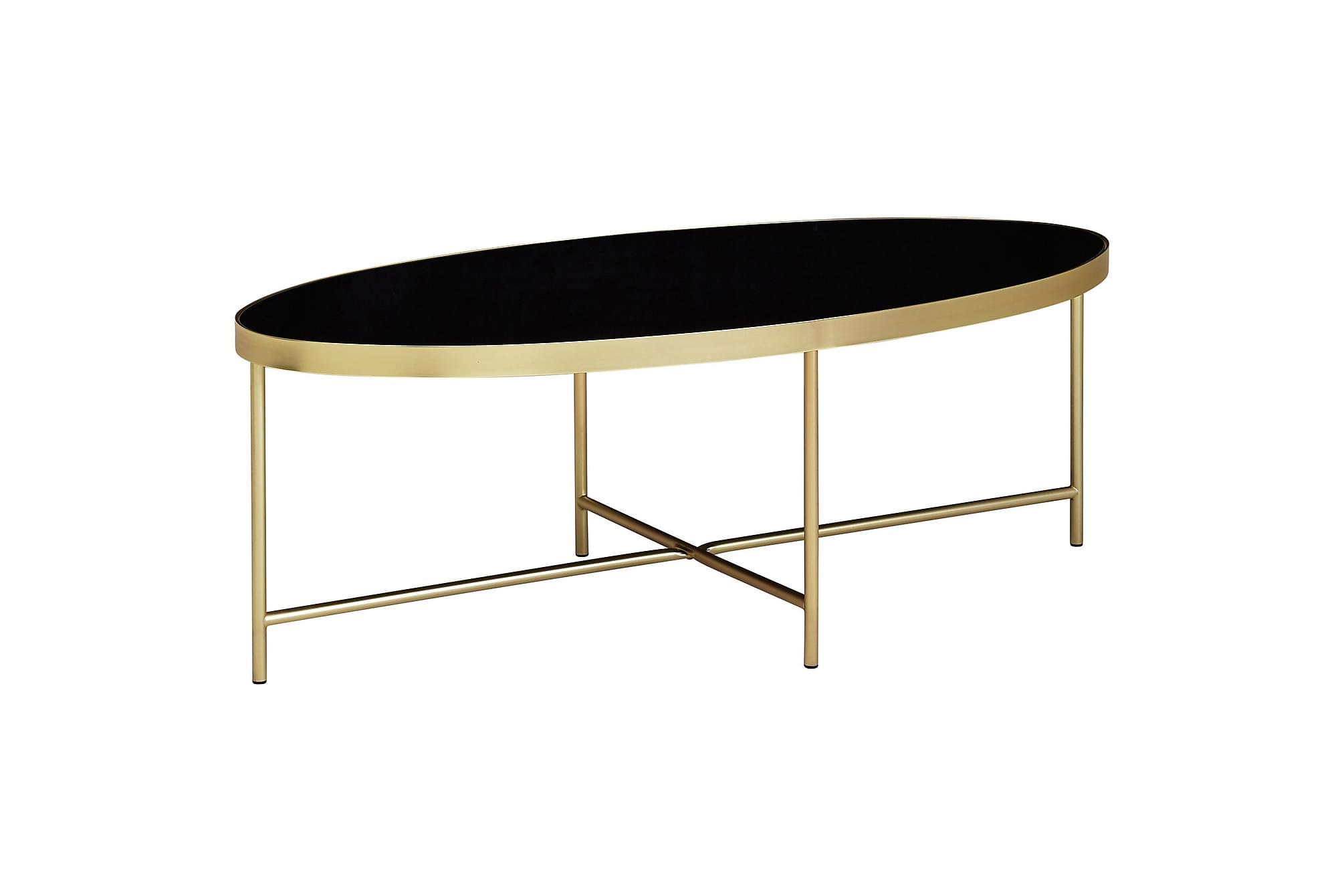 Nosbisch soffbord 56 cm svart|guld
