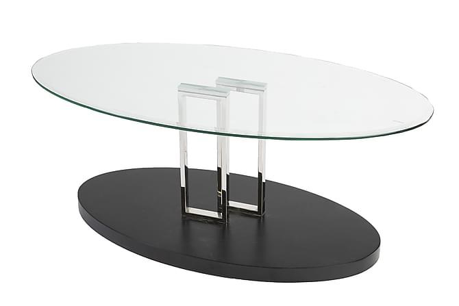 OMATE Soffbord 120 Glas Transparent/Svart - Möbler & Inredning - Bord - Soffbord