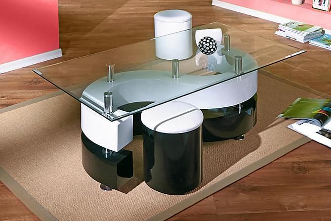 SERENA Soffbord 130 Vit/Svart - Möbler & Inredning - Bord - Soffbord