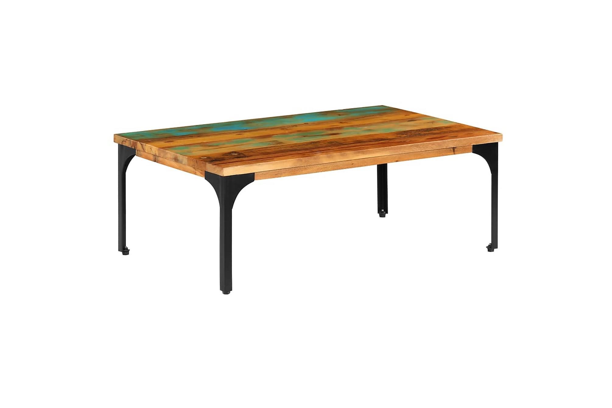 Soffbord 100x60x35 cm massivt återvunnet trä