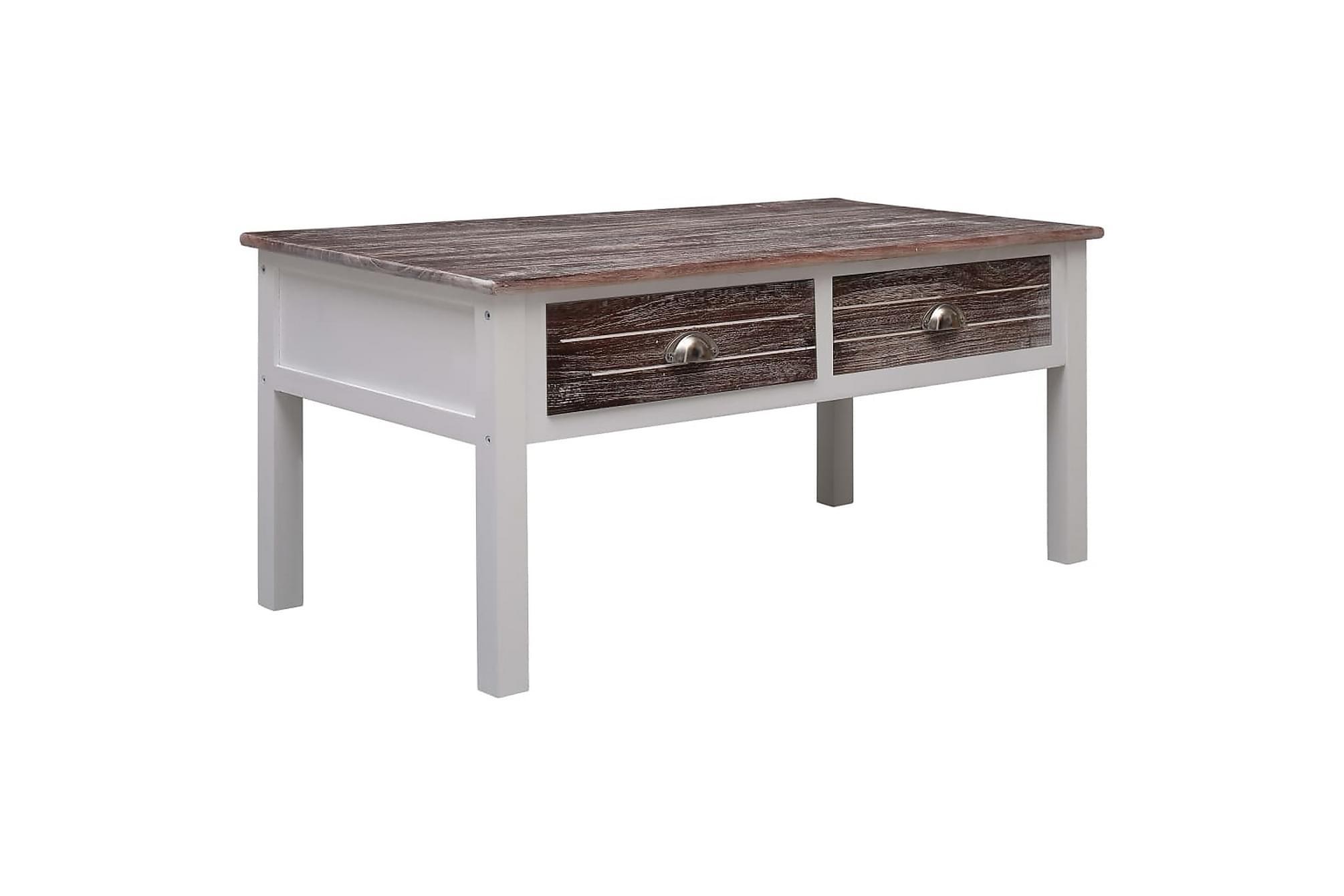 Soffbord brun 100x50x45 cm trä