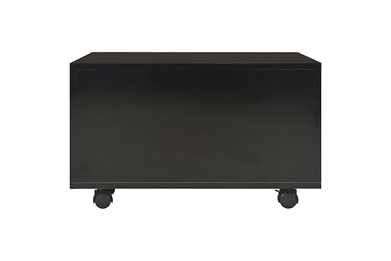 Soffbord högglans svart 60x60x35 cm spånskiva - Svart - Möbler & Inredning - Bord - Soffbord