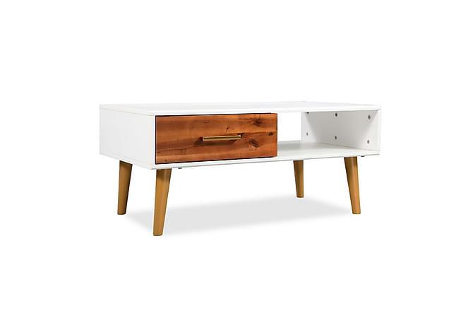 Soffbord massivt akaciaträ 90x50x40 cm - Vit - Möbler & Inredning - Bord - Soffbord