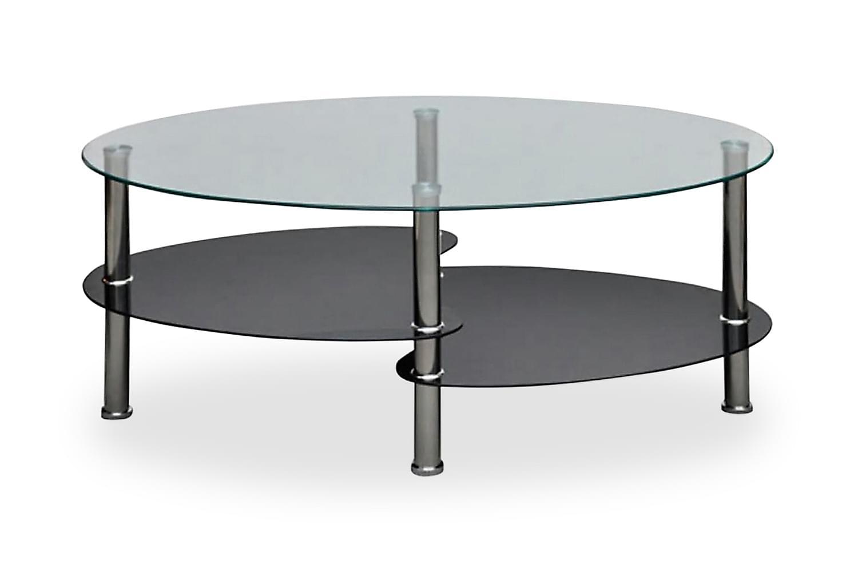 Soffbord med exklusiv design svart