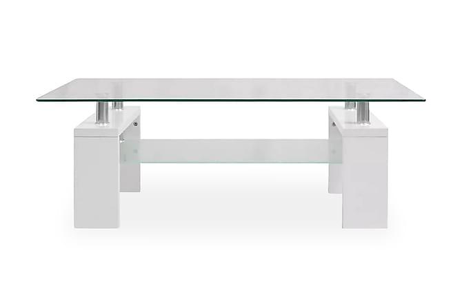 Soffbord med hylla undertill 110x60x40 cm vit högglans - Vit - Möbler & Inredning - Bord - Soffbord