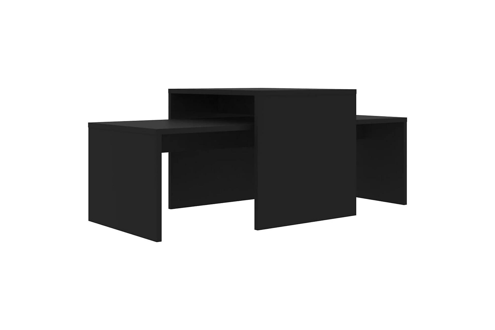 Soffbord set svart 100x48x40 cm spånskiva