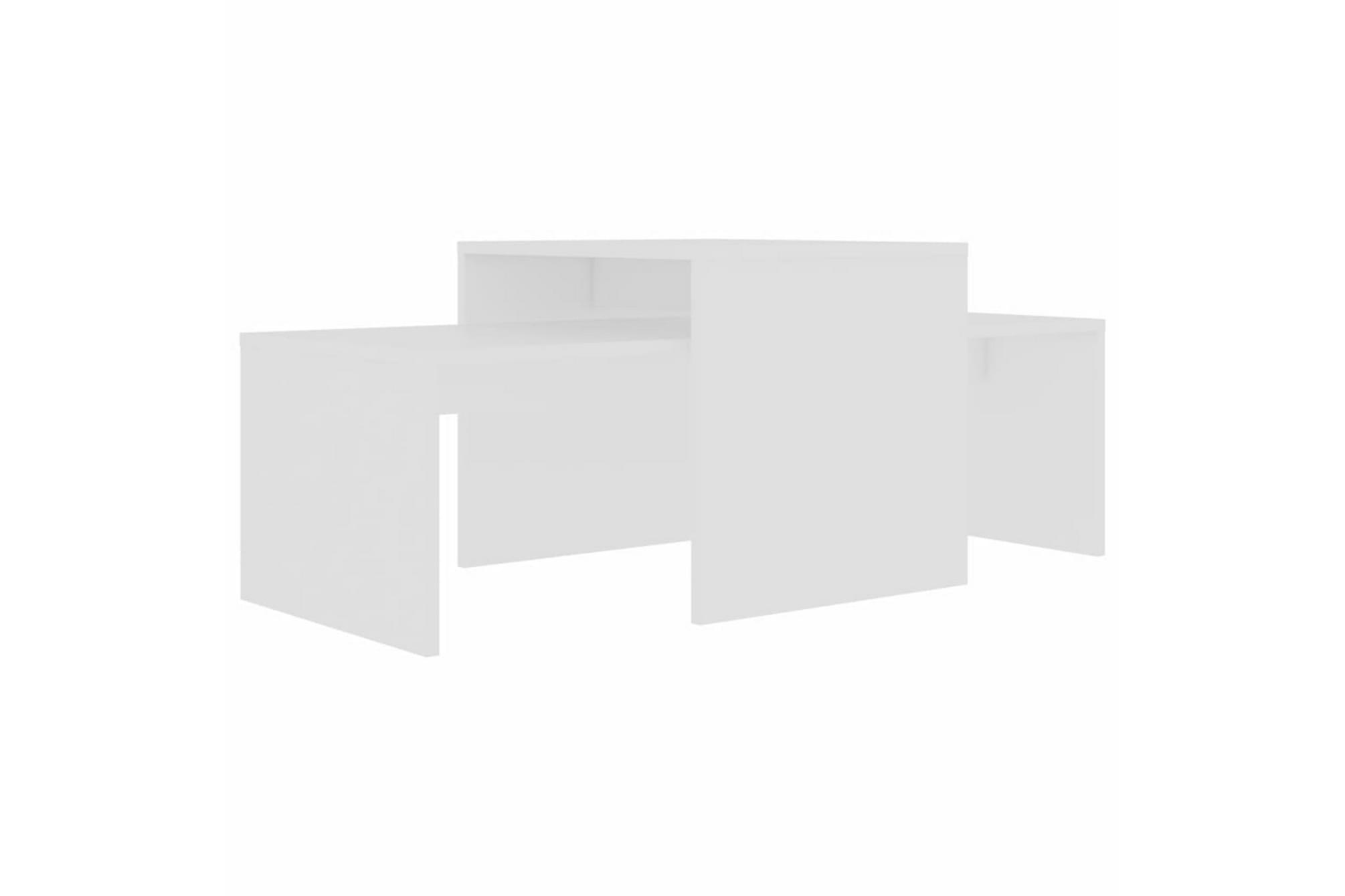 Soffbord set vit 100x48x40 cm spånskiva