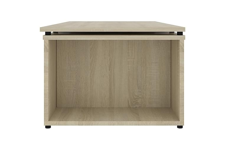 Soffbord sonoma-ek 150x50x35 cm spånskiva - Brun - Möbler & Inredning - Bord - Soffbord