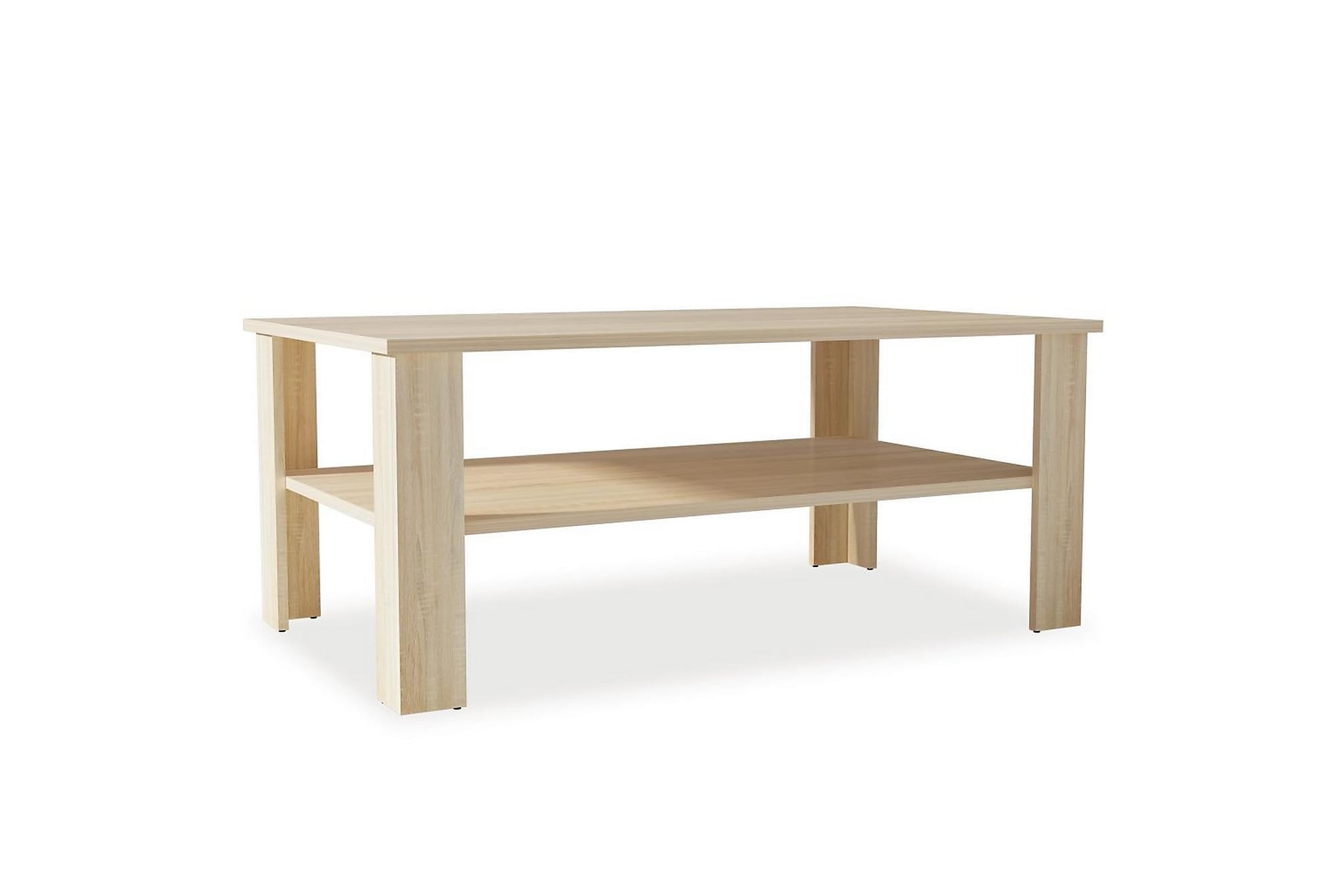 Soffbord spånskiva 100x59x42 cm ek