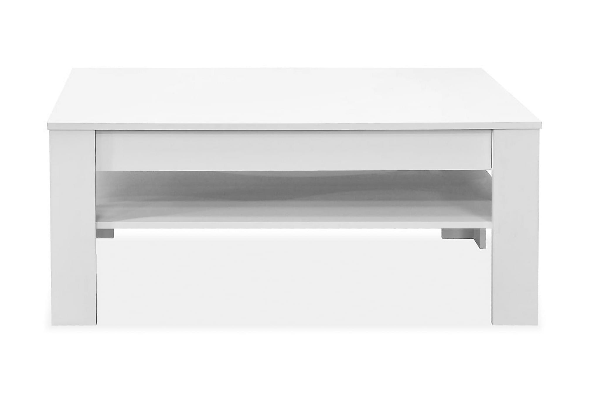 Soffbord spånskiva 110x65x48 cm vit